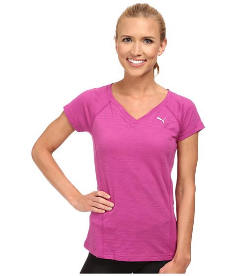 PUMA - V-Neck Multi Tee (Vivid Viola) Women's T Shirt