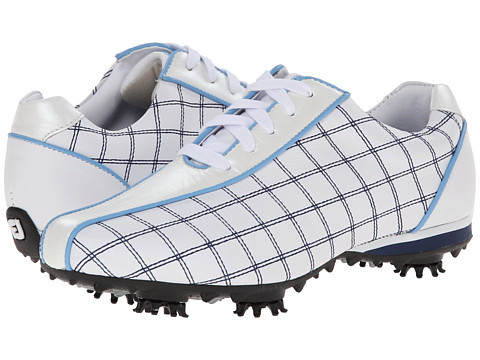 FootJoy - LoPro Collection (White/Navy/Light Blue Trim) Women's Golf Shoes