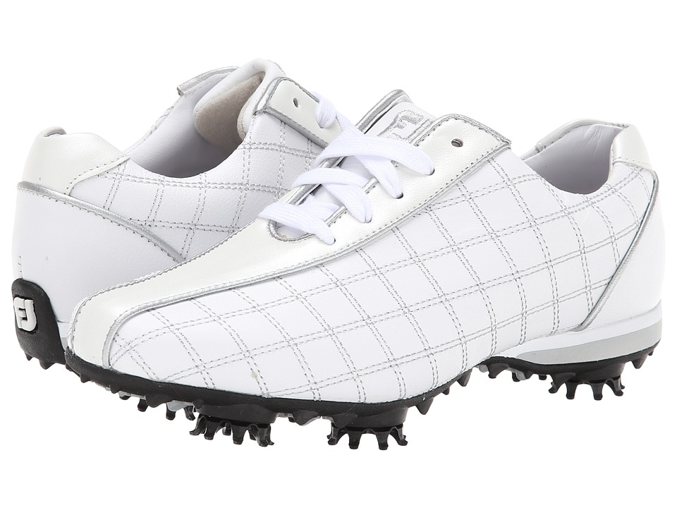 FootJoy - LoPro Collection (White/Pearl/Silver Trim) Women's Golf Shoes