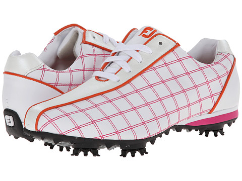 FootJoy - LoPro Collection (White/Raspberry/Orange Trim) Women