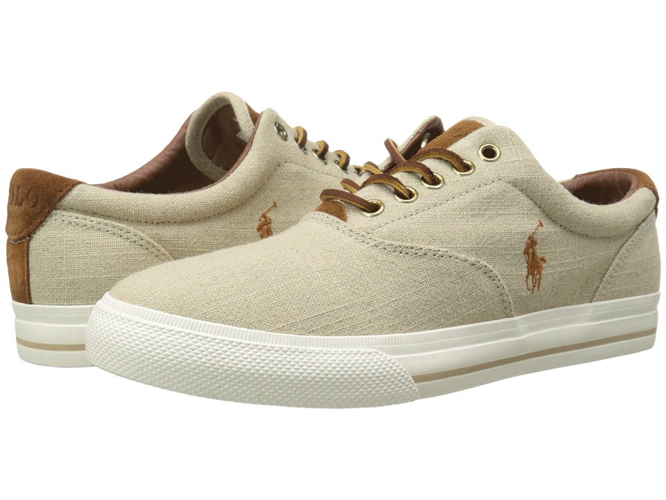 Polo Ralph Lauren - Vaughn (Natural/Flax Linen/Sport Suede) Men's Lace up casual Shoes