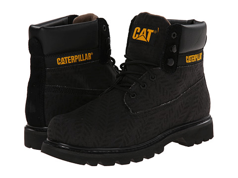 Caterpillar - Colorado Canvas Chevron (Black) Men's Lace-up Boots