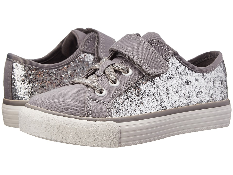 Clarks Kids - Brill Prize (Toddler/Little Kid) (Silver) Girl's Shoes