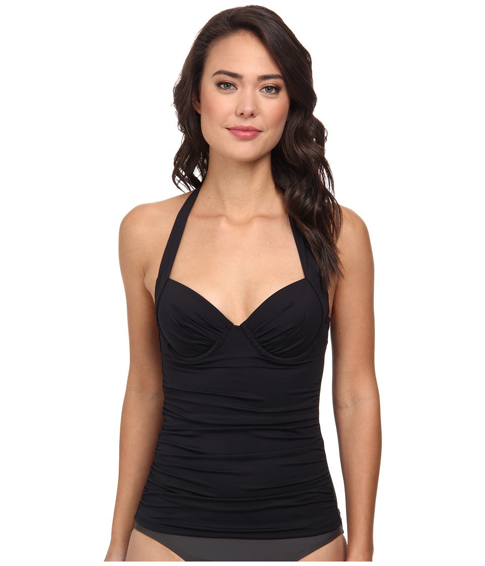 Tommy Bahama - Pearl Solids Underwire Full Molded Cup Tankini (Black) Women