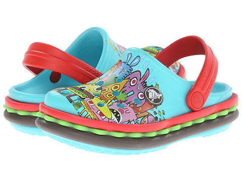 Crocs Kids - Burger Clog (Toddler/Little Kid) (Pool) Kids Shoes