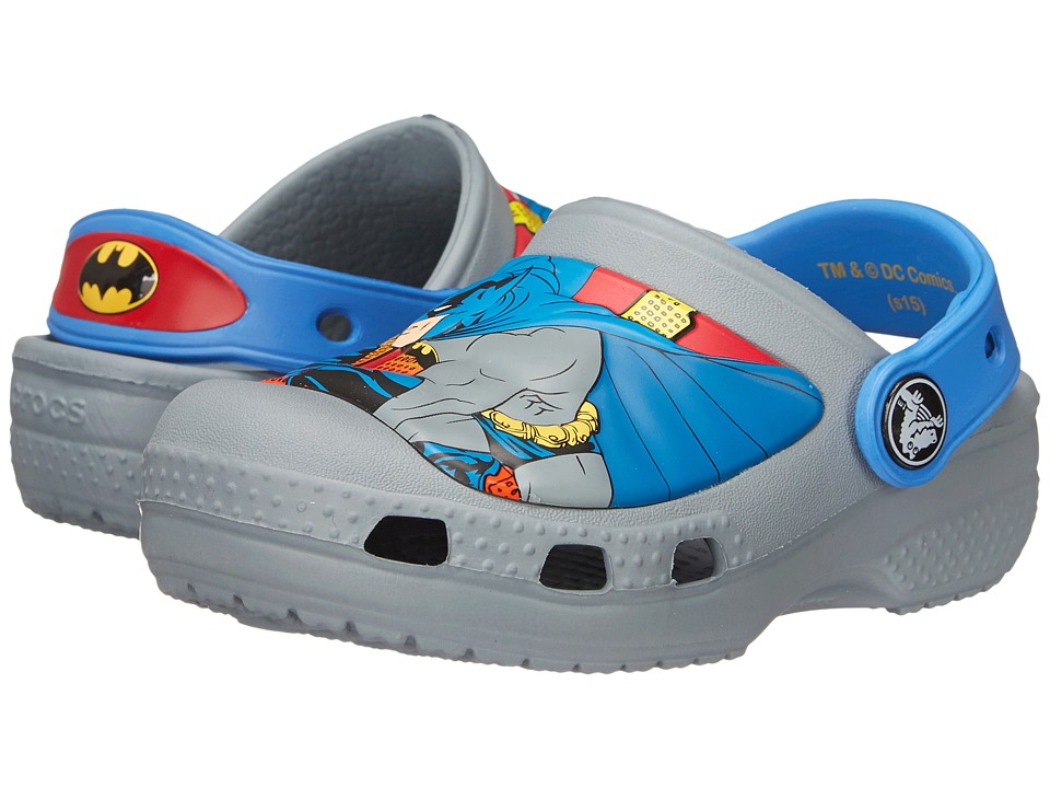 Crocs Kids - Batman Clog (Toddler/Little Kid) (Concrete) Boys Shoes