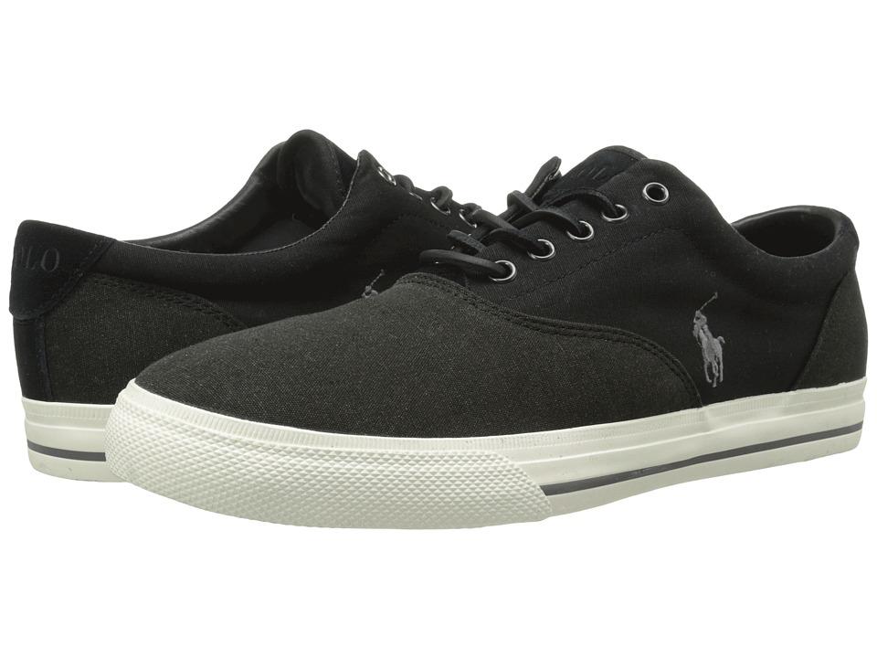 Polo Ralph Lauren - Vaughn Saddle (Black/Pumice Canvas) Men's Lace up casual Shoes