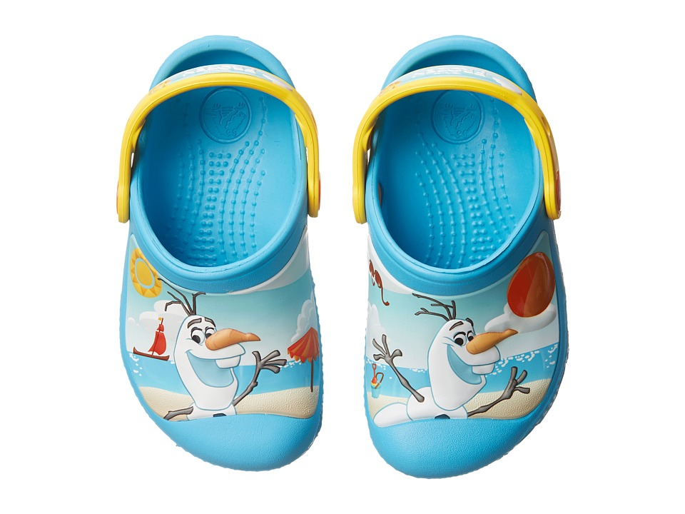 Crocs Kids - Olaf Clog (Toddler/Little Kid) (Electric Blue) Kids Shoes
