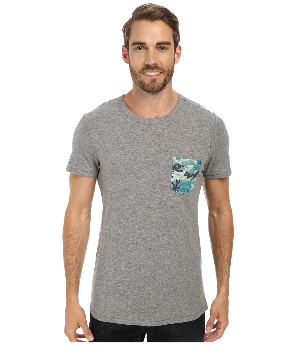 Life is good - Slub Pocket Tee (Heather Grey) Men
