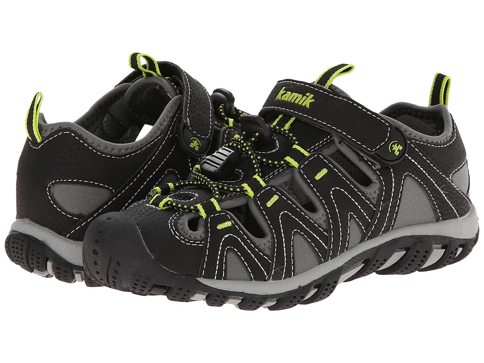 Kamik Kids - Moorings (Little Kid/Big Kid) (Black) Boys Shoes