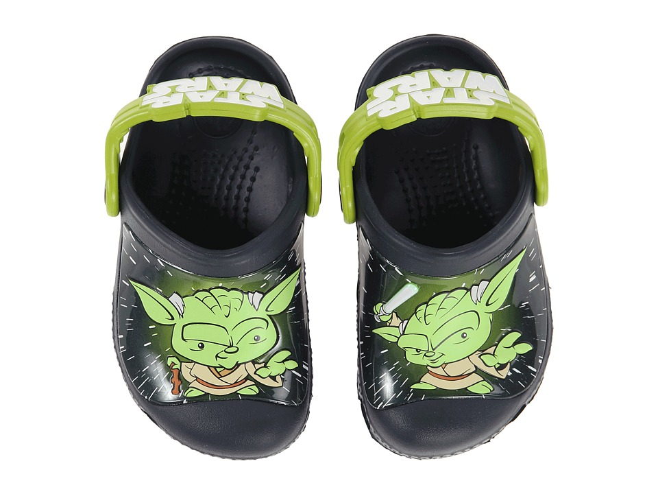 Crocs Kids - Star Wars Yoda Clog (Toddler/Little Kid) (Navy) Boys Shoes