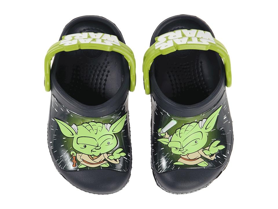 Crocs Kids - Star Wars Yoda Clog (Toddler/Little Kid) (Navy) Boys Shoes