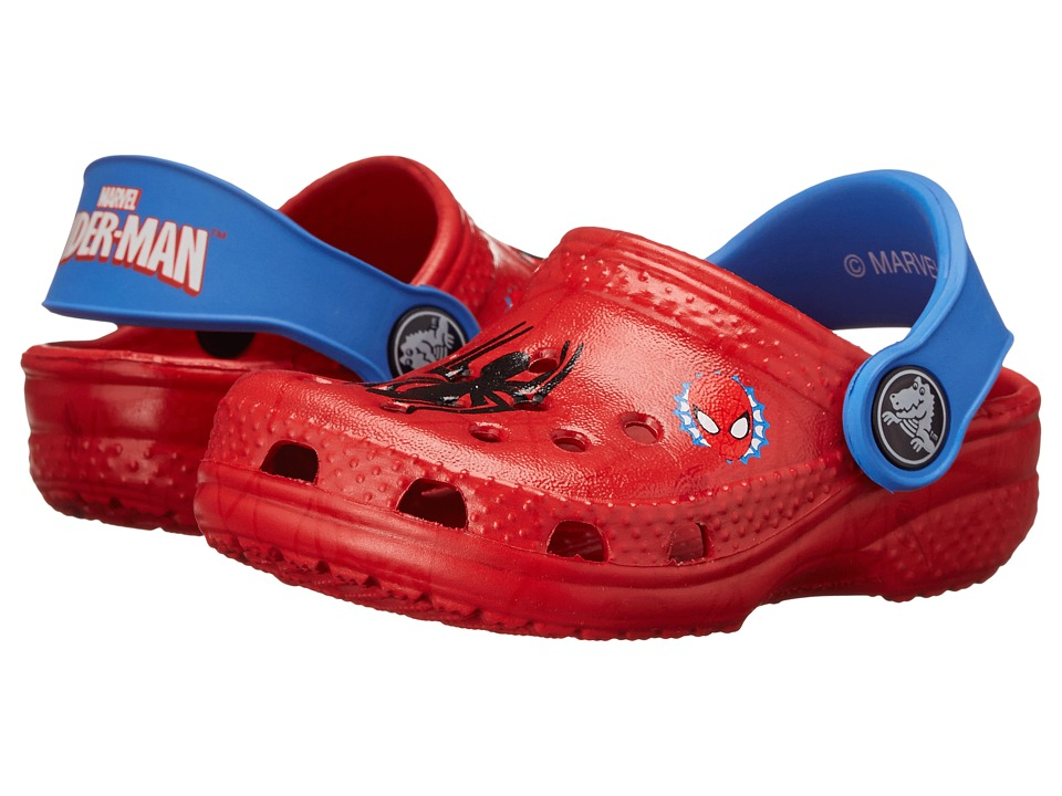 Crocs Kids - Classic Spiderman Clog (Toddler/Little Kid) (Red) Boys Shoes