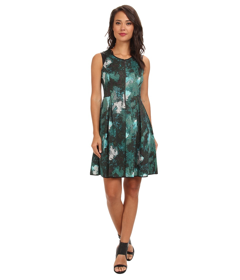 Marc New York by Andrew Marc - Front Zip Fit Flare Dress MD4K8374 (Multi) Women