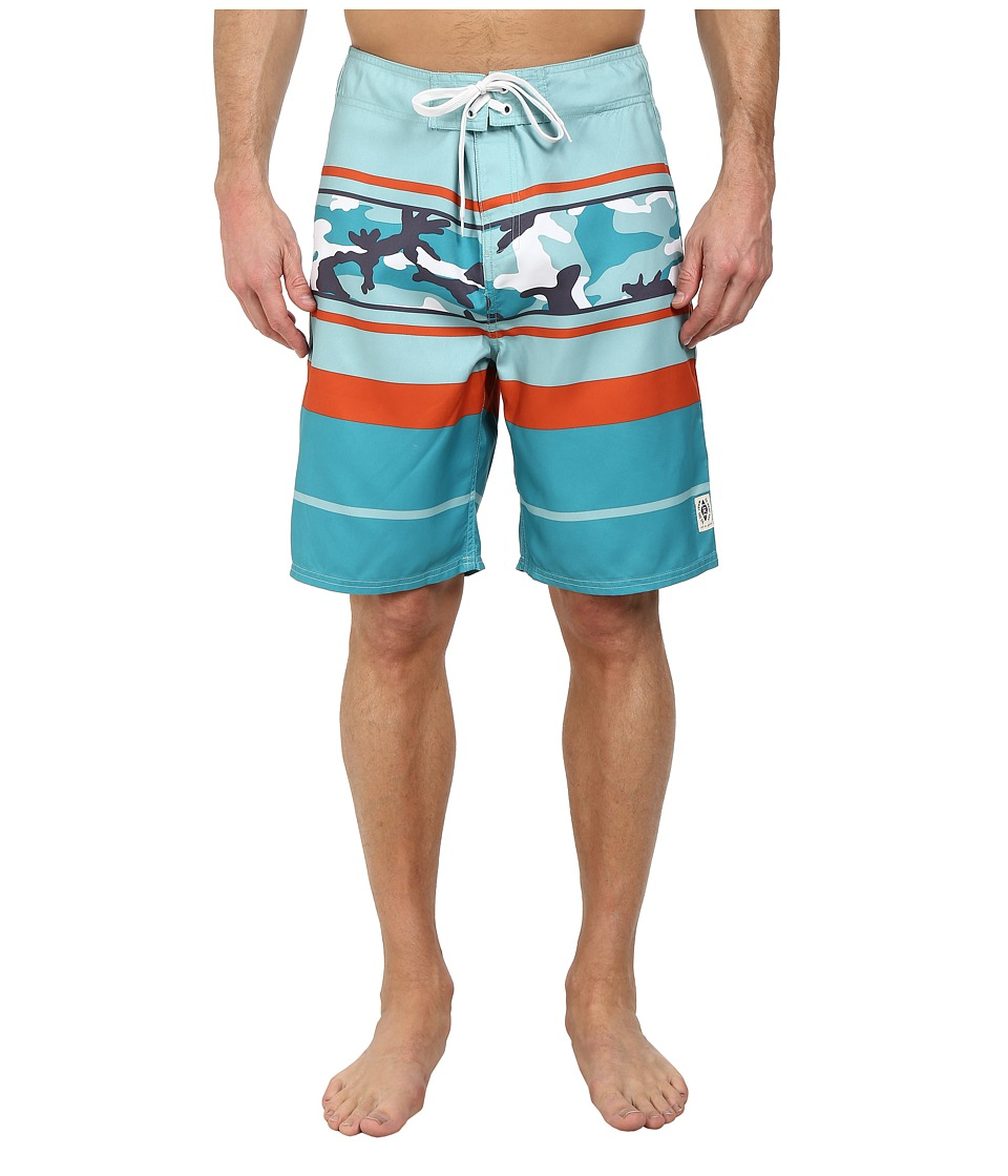 Life is good - Bold Coast Boardshorts (Teal Blue) Men's Swimwear