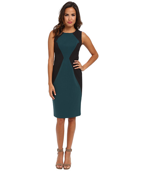 Marc New York by Andrew Marc - Square Neck Sleeveless Sheath Dress MD4X8397 (Dark Forest) Women's Dress