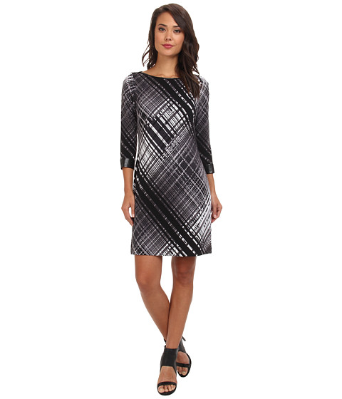 Marc New York by Andrew Marc - L/S Boat Neck Chemise Dress MD4Y8853 (Black) Women's Dress