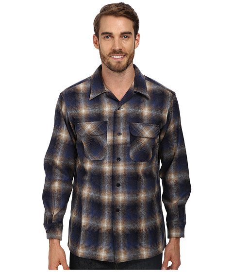 Pendleton - L/S Board Shirt (Tan/Blue Ombre) Men