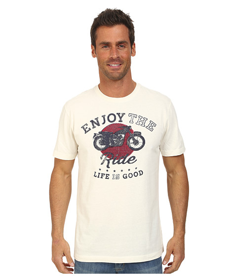 Life is good - Creamy Vee (Simply Ivory) Men's T Shirt