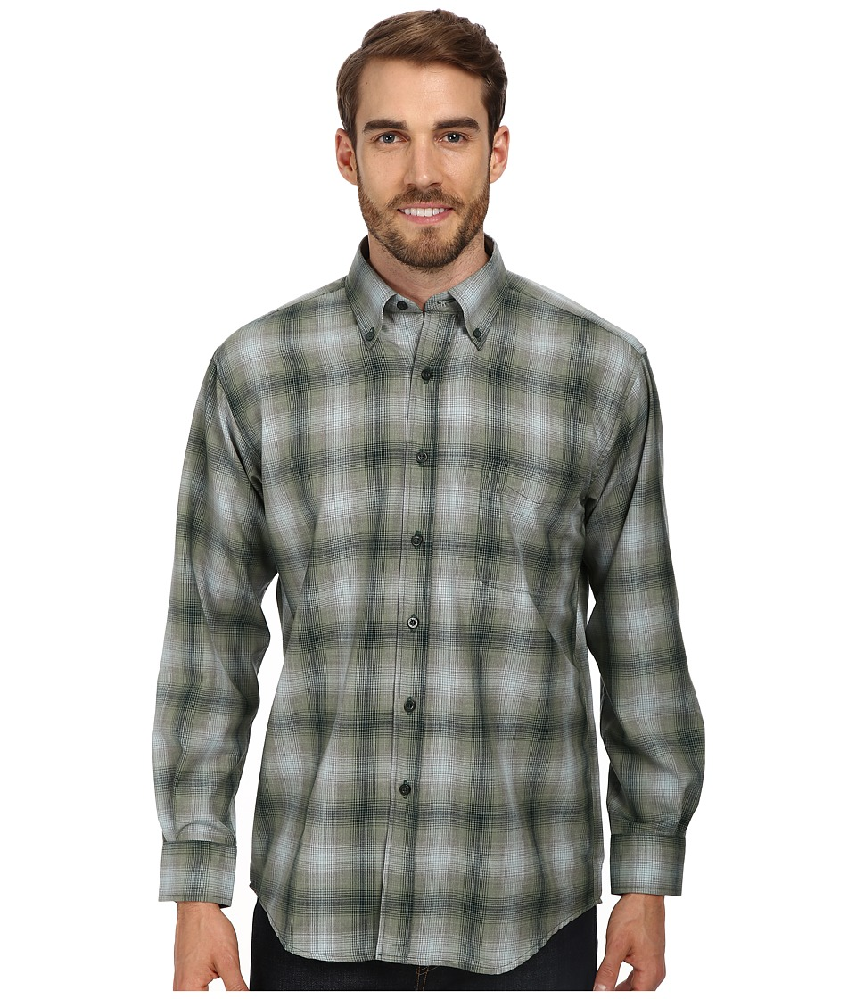 Pendleton - Sir Pendleton Wool Shirt (Green/Blue Ombre) Men's Long Sleeve Button Up