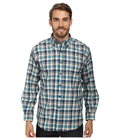 Pendleton - Sir Pendleton Wool Shirt (Blue/Turquoise Check) Men's Long Sleeve Button Up