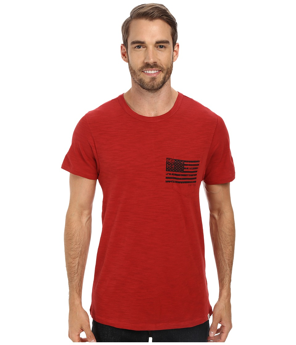 Life is good - Slub Pocket Tee (Nantucket Red) Men
