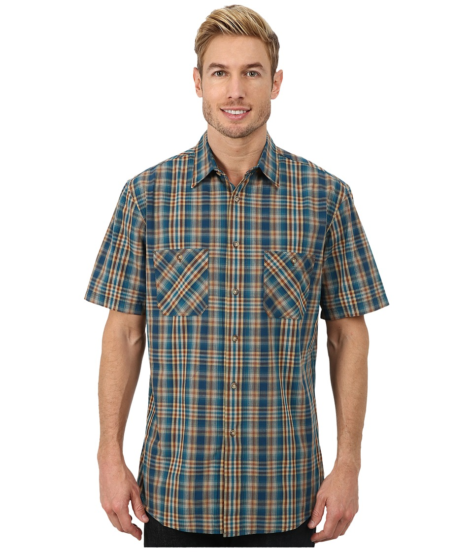Pendleton - S/S Santiam Shirt (Turquoise/Tan Ombre) Men