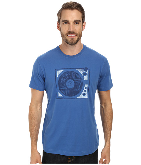 Life is good - Good Vibes Vinyl Crusher Tee (Sapphire Blue) Men's T Shirt