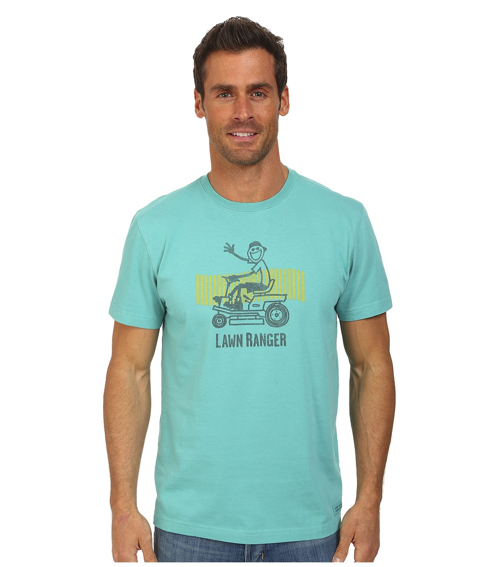 Life is good - Lawn Ranger Rider Crusher Tee (Teal Blue) Men