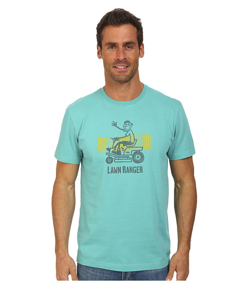 Life is good - Lawn Ranger Rider Crusher Tee (Teal Blue) Men's T Shirt