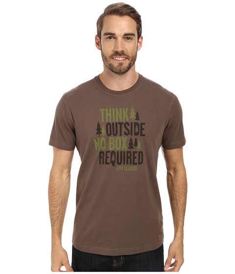 Life is good - No Box Required Crusher Tee (Dark Brown) Men's T Shirt