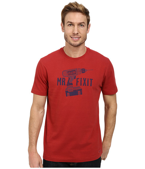 Life is good - Mr. Fixit Drill Crusher Tee (Nantucket Red) Men