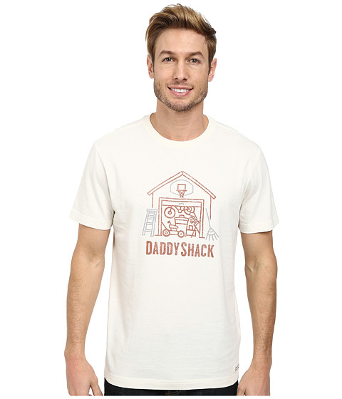 Life is good - Full Daddyshack Crusher Tee (Simply Ivory) Men