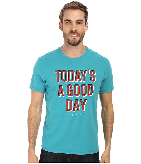 Life is good - Sleep Tee (Teal Blue) Men's Pajama