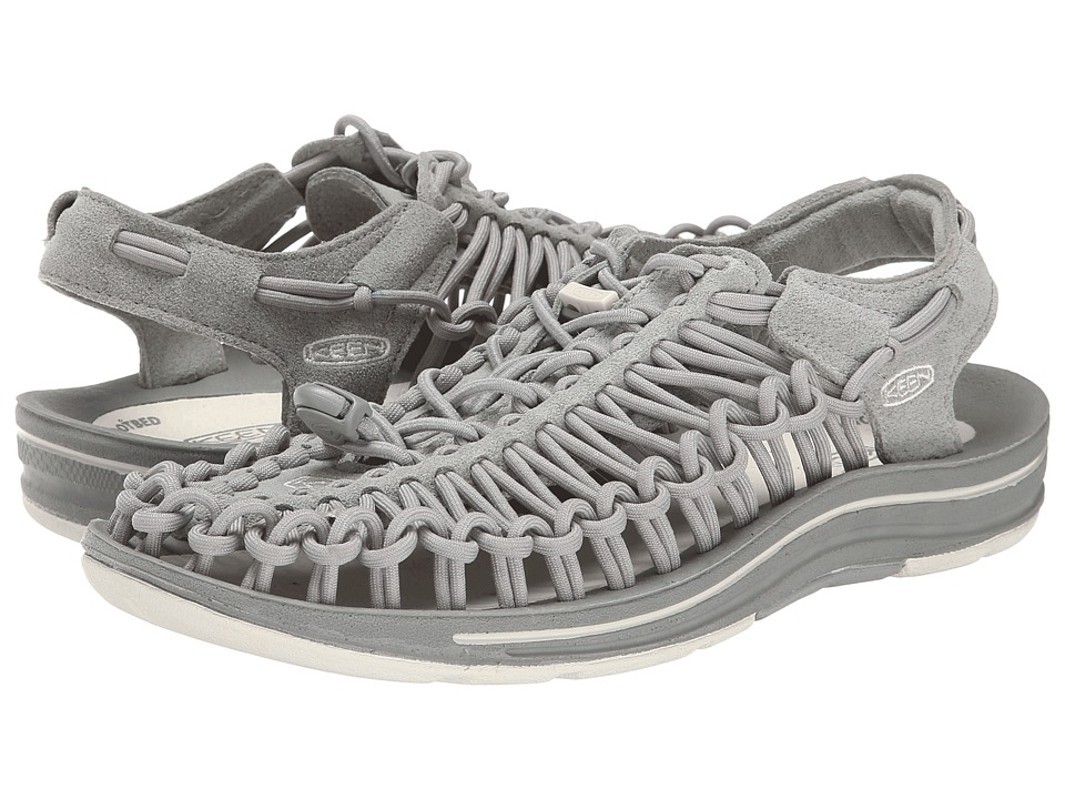 Keen - Uneek (Neutral Gray/Vapor) Women's Toe Open Shoes