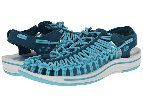 Keen - Uneek (Ink Blue/Capri) Women's Toe Open Shoes