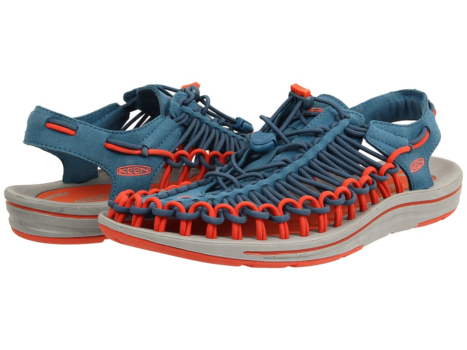 Keen - Uneek (Ink Blue/Red Clay) Men's Shoes