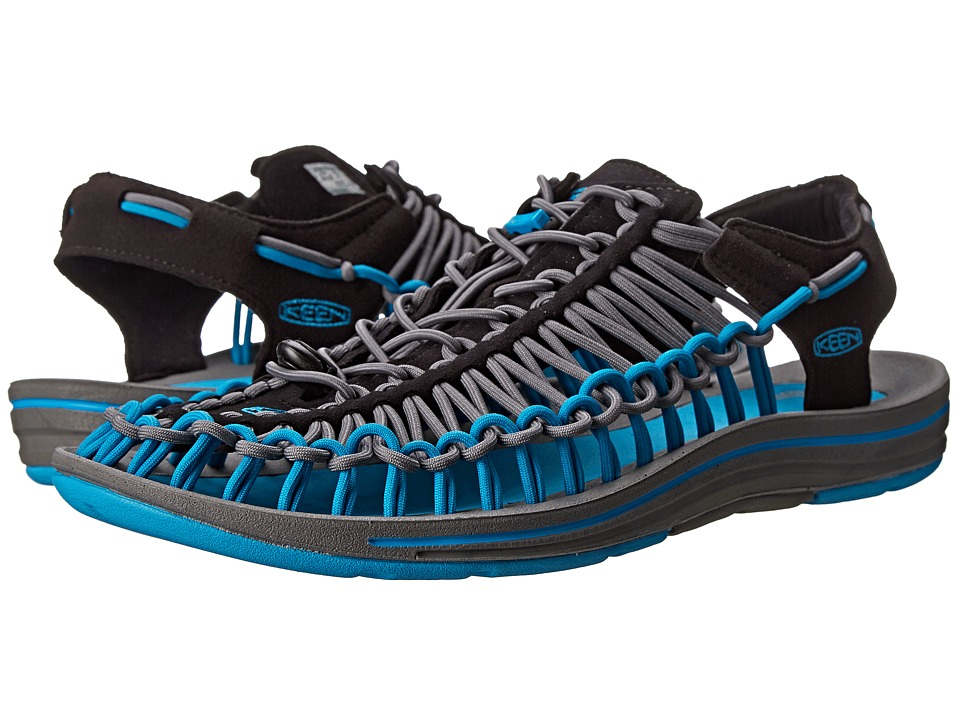 Keen - Uneek (Black/Blue Danube) Men's Shoes