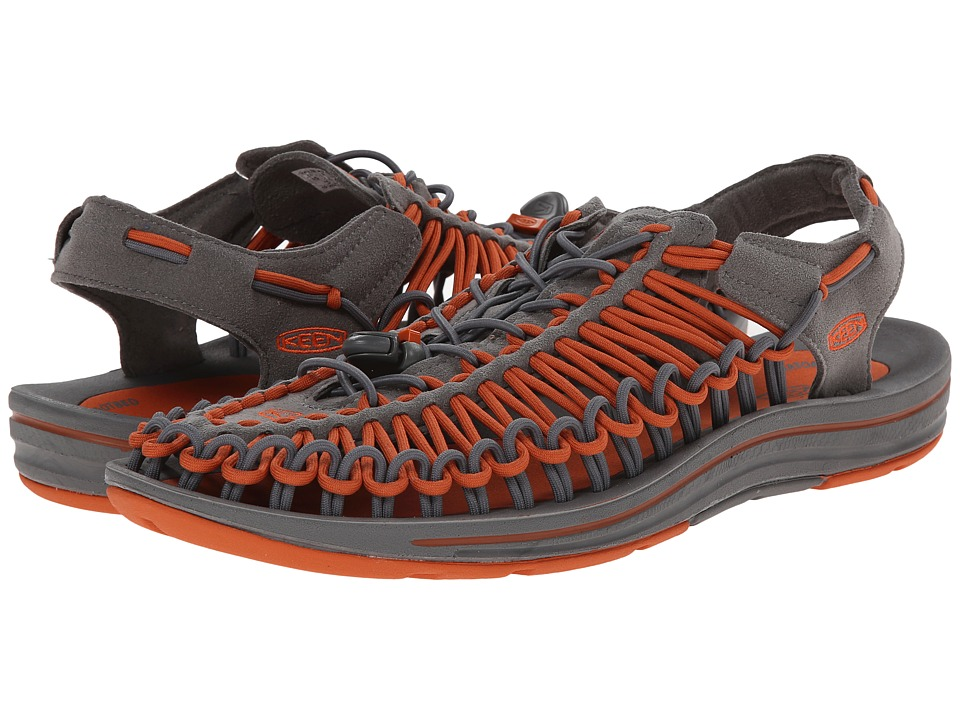 Keen - Uneek (Gargoyle/Burnt Ochre) Men's Shoes