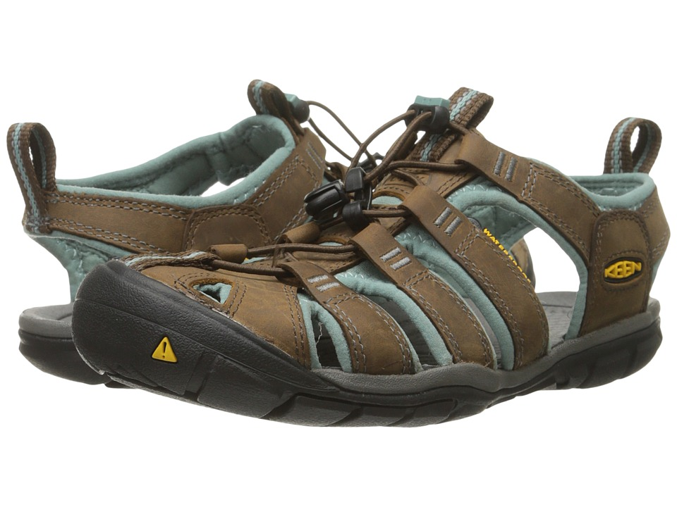 Keen Clearwater CNX Leather (Cascade/Mineral Blue) Women