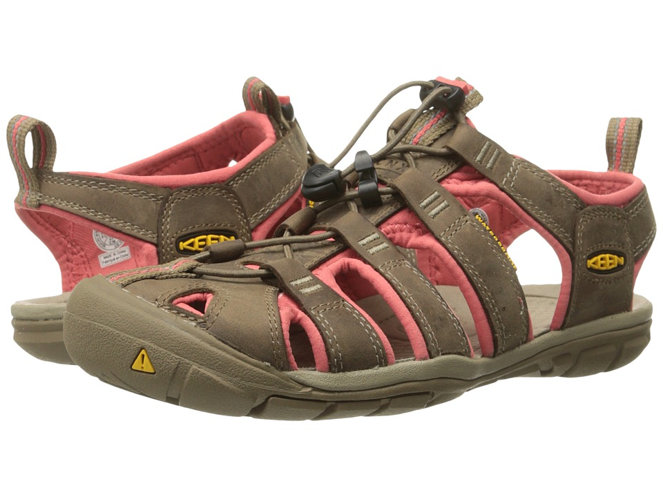 Keen Clearwater CNX Leather (Shitake/Rose) Women
