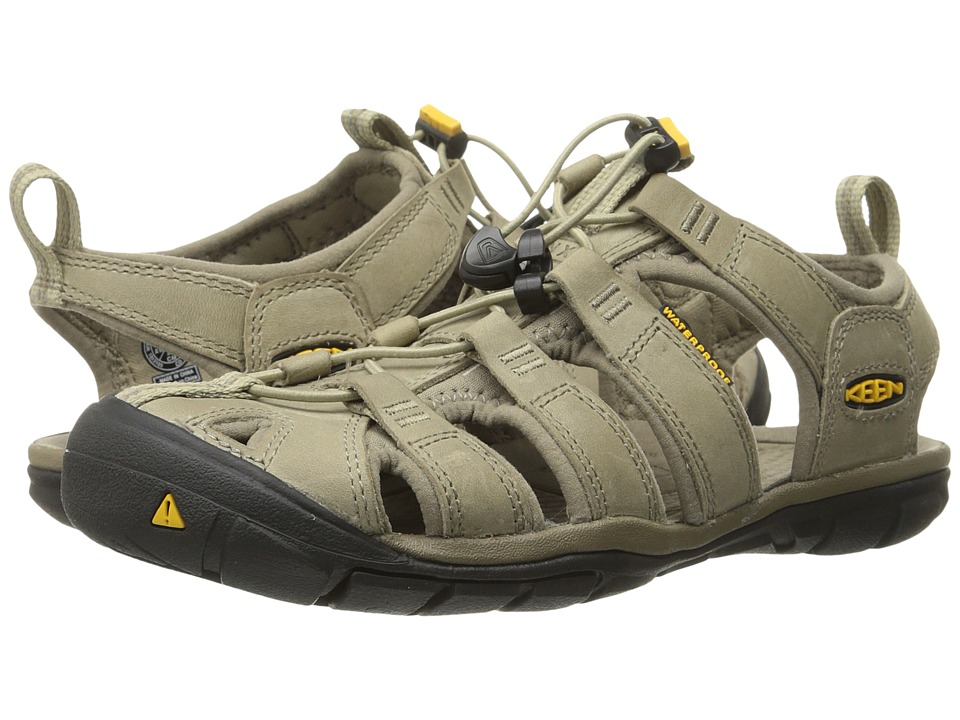 Keen Clearwater CNX Leather (Aluminum/Brindle) Women