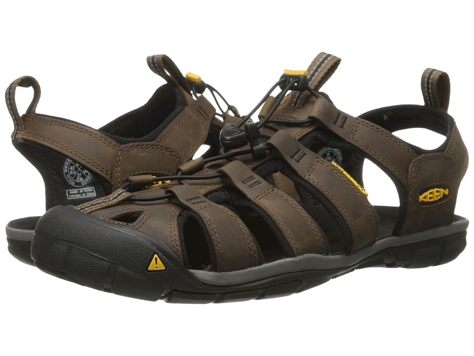 Keen - Clearwater CNX Leather (Dark Earth/Black) Men