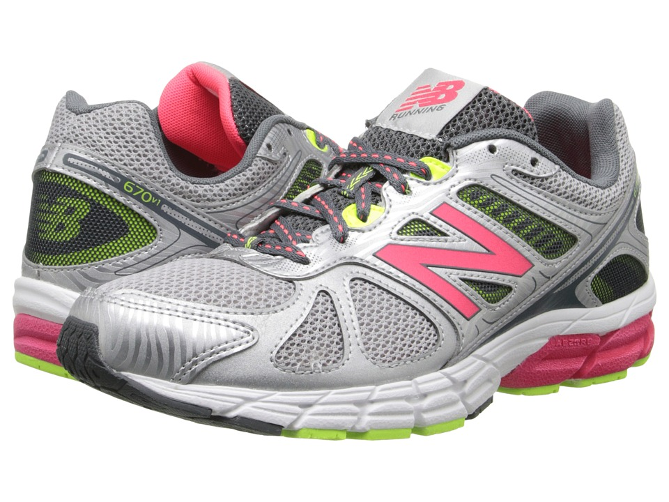New Balance - 670v1 (Silver/Pink) Women's Running Shoes