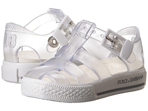 Dolce & Gabbana - Beach Transparent Sandal (Infant/Toddler/Little Kid) (White) Women