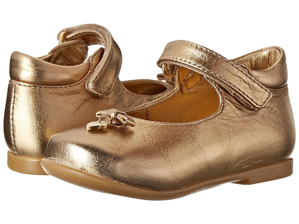 Dolce & Gabbana Kids - Metallic Mary Jane (Toddler) (Gold) Girls Shoes