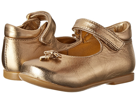Dolce & Gabbana - Metallic Mary Jane (Toddler) (Gold) Women's Maryjane Shoes