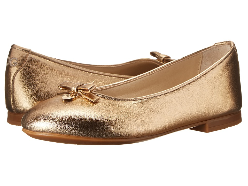 Dolce & Gabbana Kids - Metallic Ballerina (Little Kid/Big Kid) (Gold) Girl's Shoes