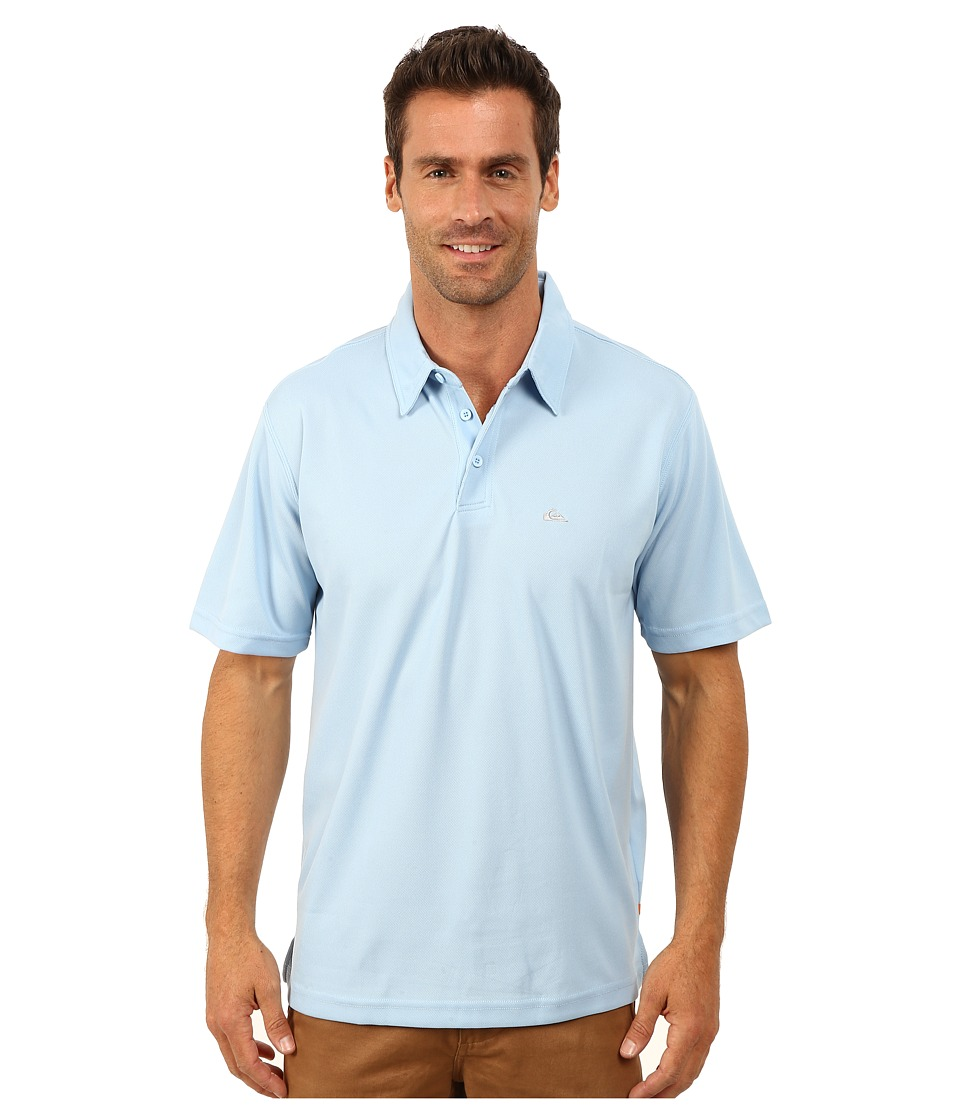 Quiksilver Waterman - Waterman Collection Water Polo 2 Knit Polo (Azure) Men's Short Sleeve Pullover