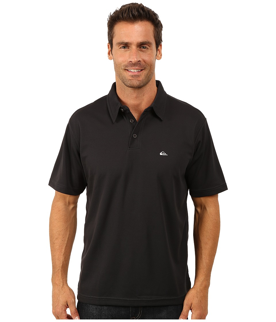 Quiksilver Waterman - Waterman Collection Water Polo 2 Knit Polo (Black 1) Men's Short Sleeve Pullover
